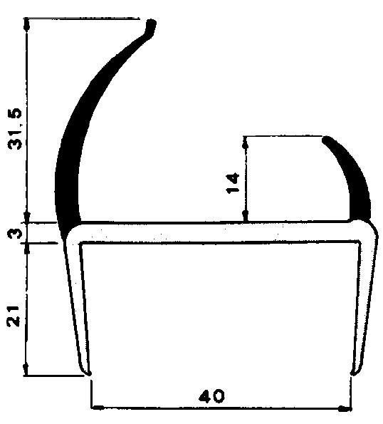 pvc profil f r 40mm platten selbstbau material. Black Bedroom Furniture Sets. Home Design Ideas