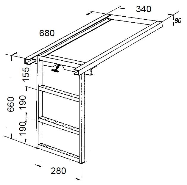 einstiegsleiter ausziehbar online katalog zum selbstbau. Black Bedroom Furniture Sets. Home Design Ideas